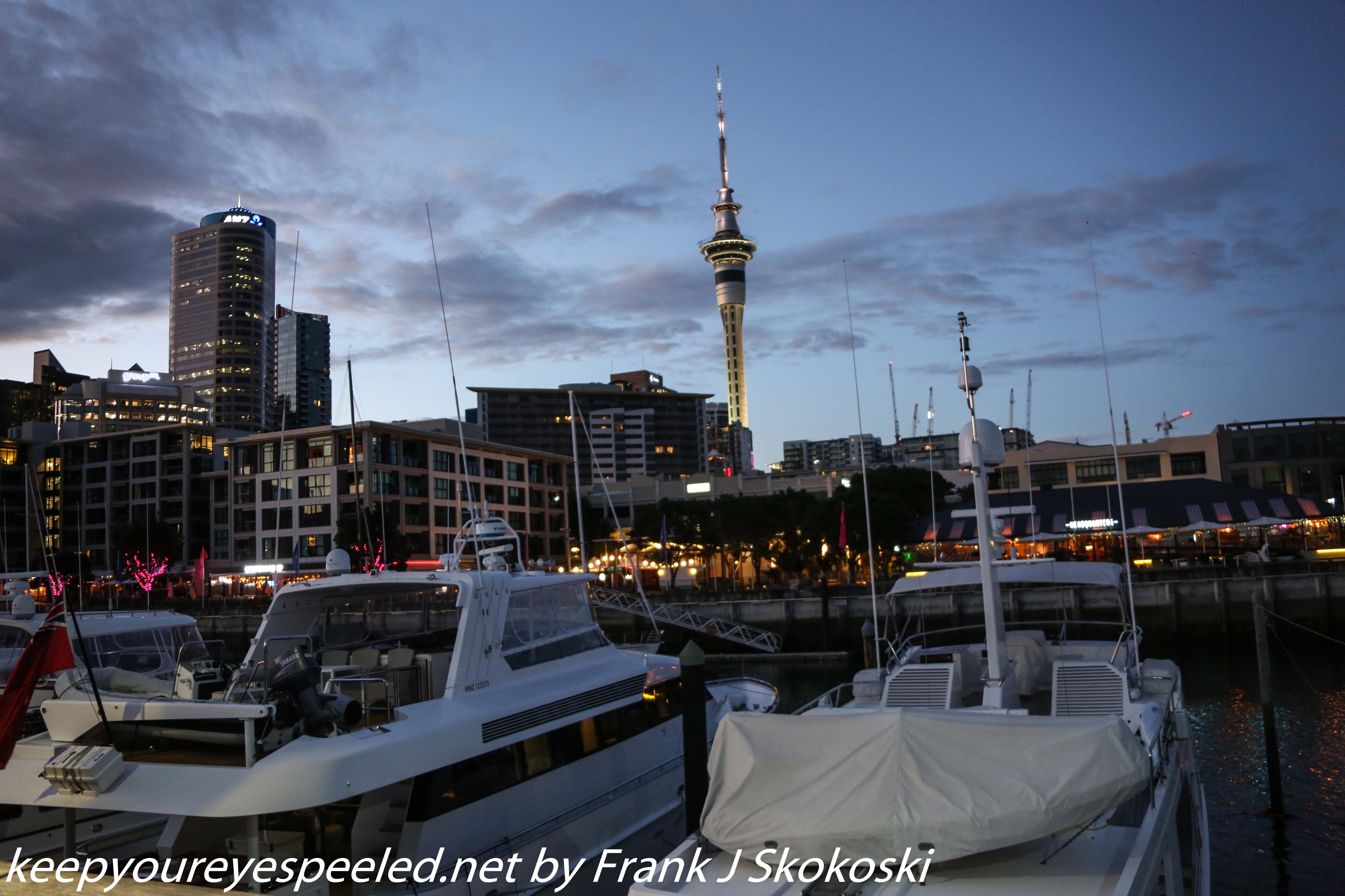 Auckland harbor in morning